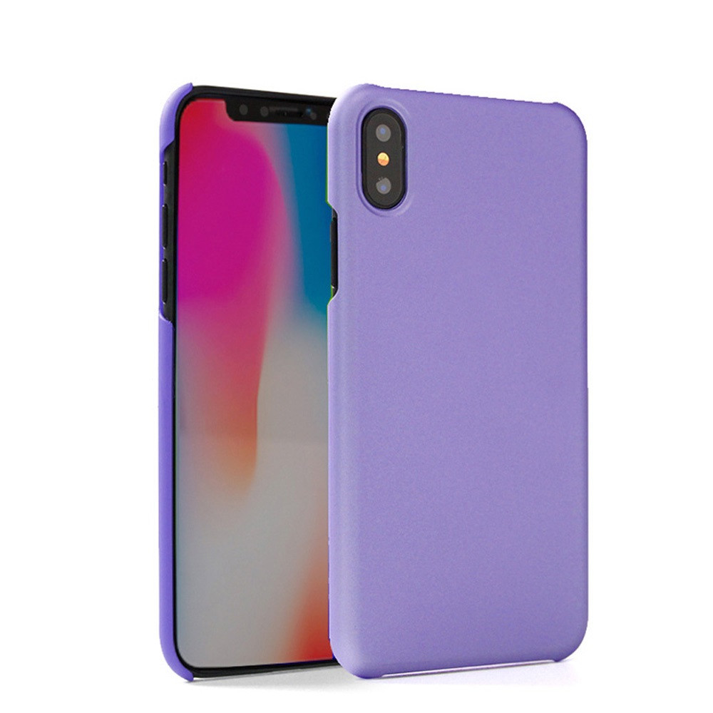 Apple iPhone X -  Ultra Slim Fit Hard Plastic Case, Purple