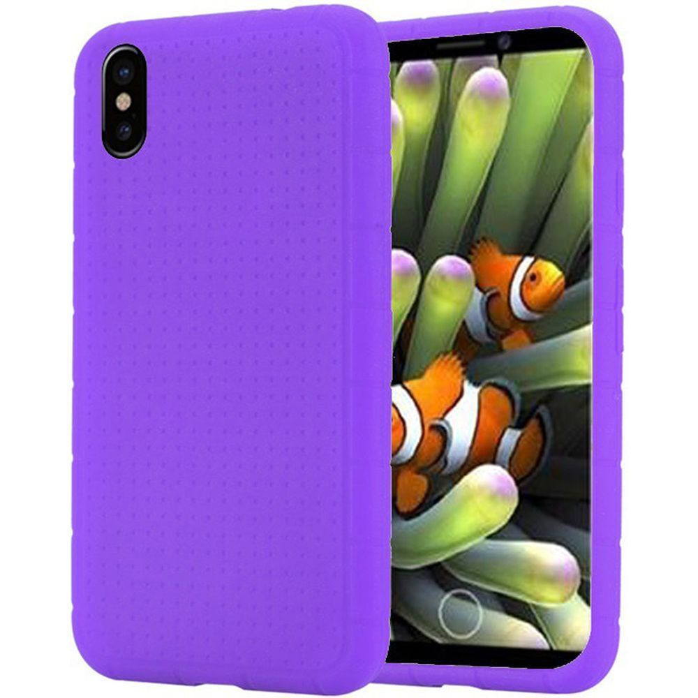 Apple iPhone X -  Silicone Case, Purple