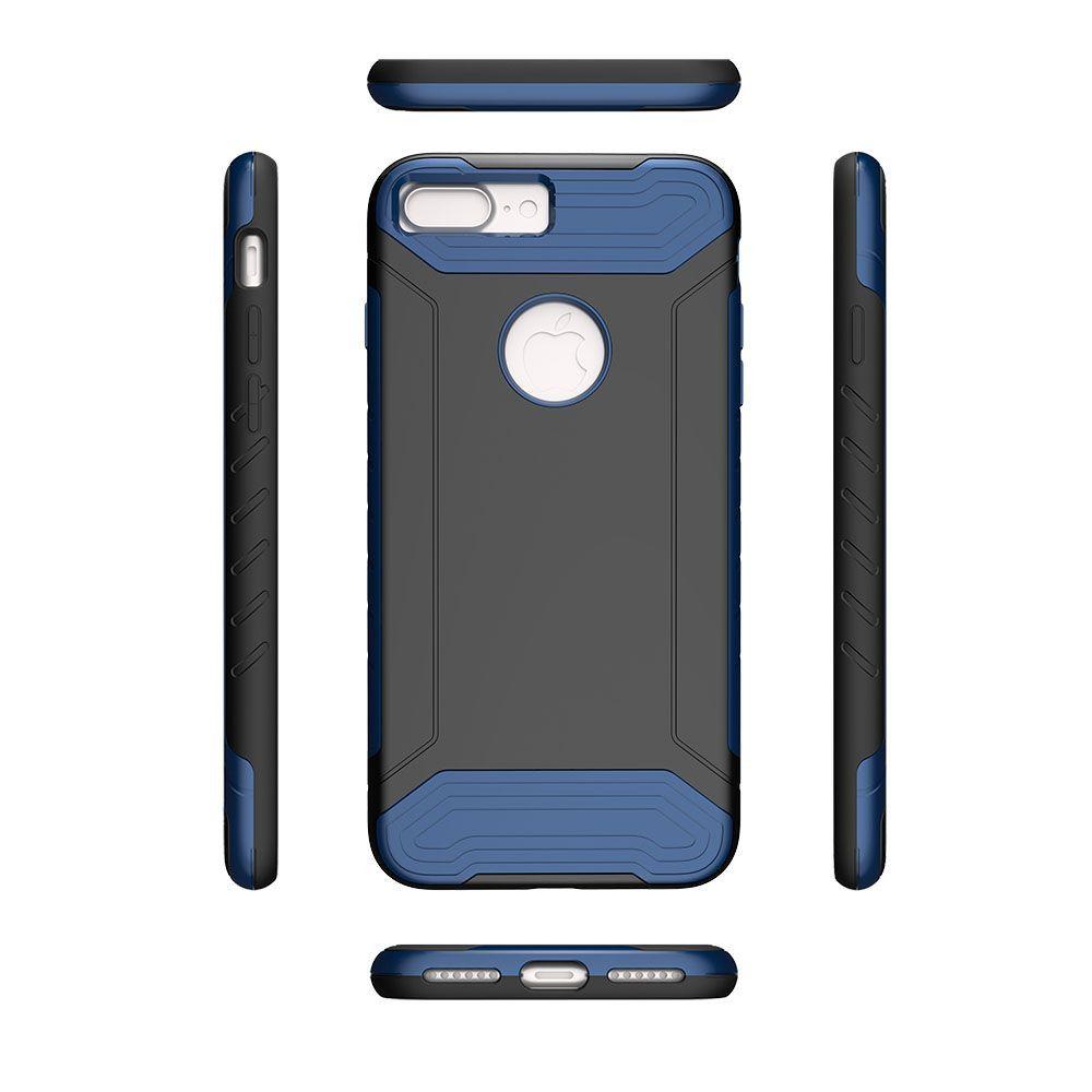 Apple iPhone 7 Plus -  Quantum Dual Layer Rugged Case, Black/Blue