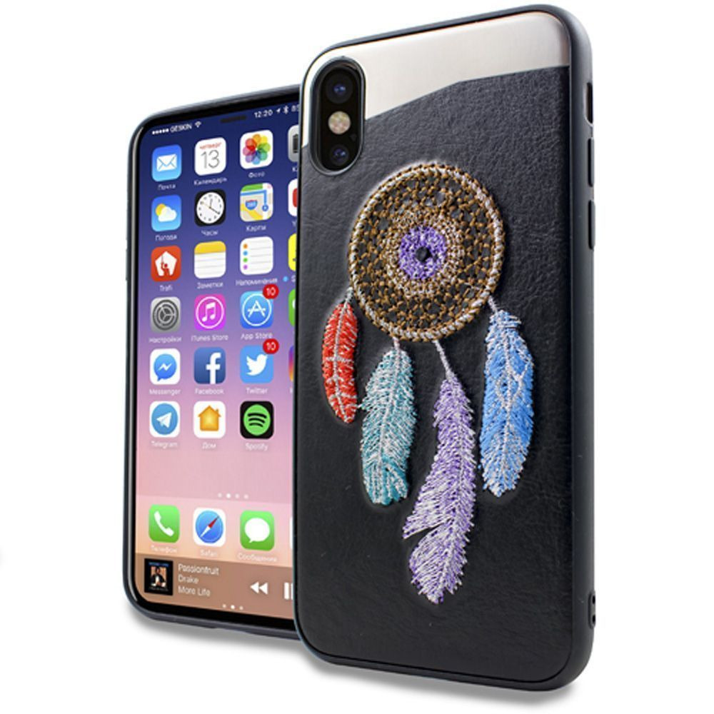 Apple iPhone X - Dream Catcher Embroidered Slim Fashion Case, Multi-Color