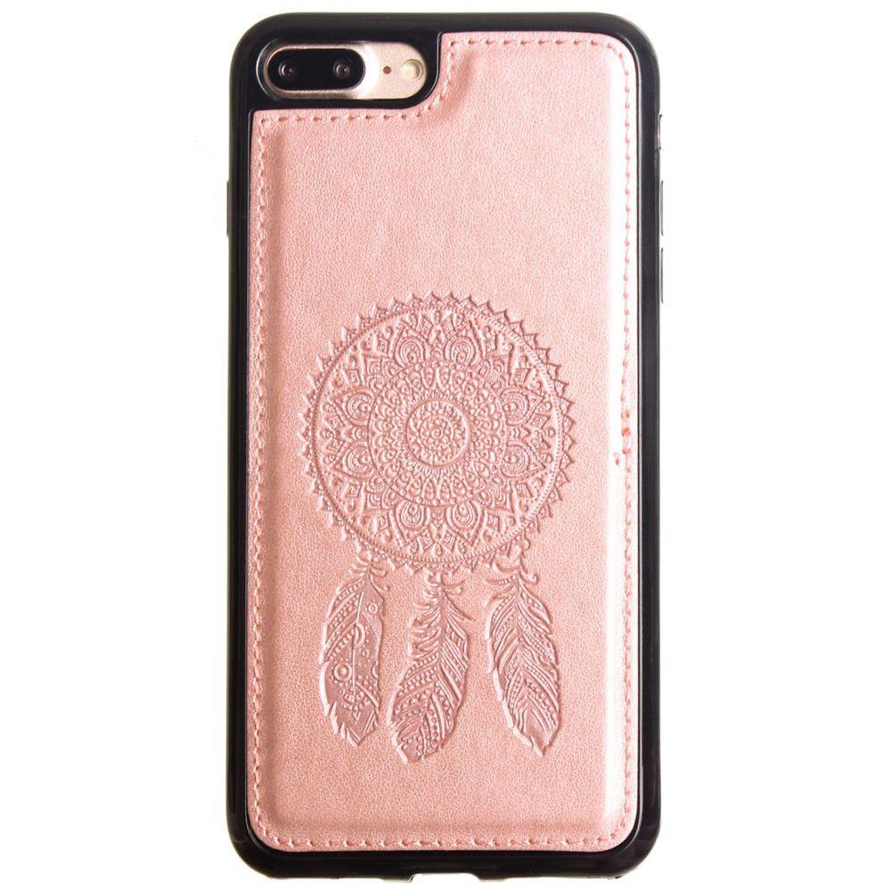 Apple iPhone 7 Plus -  Embossed Dream Catcher Design TPU Case, Rose Gold