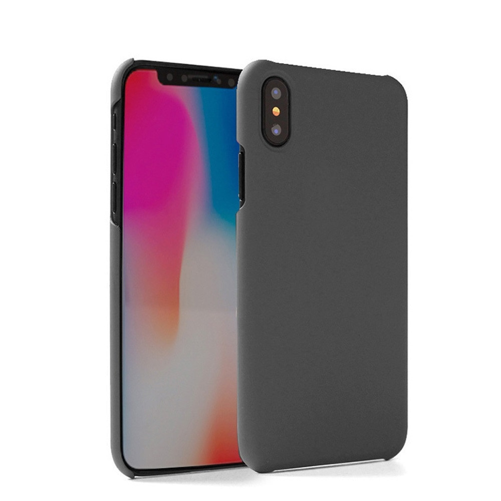 Apple iPhone X -  Ultra Slim Fit Hard Plastic Case, Smoke