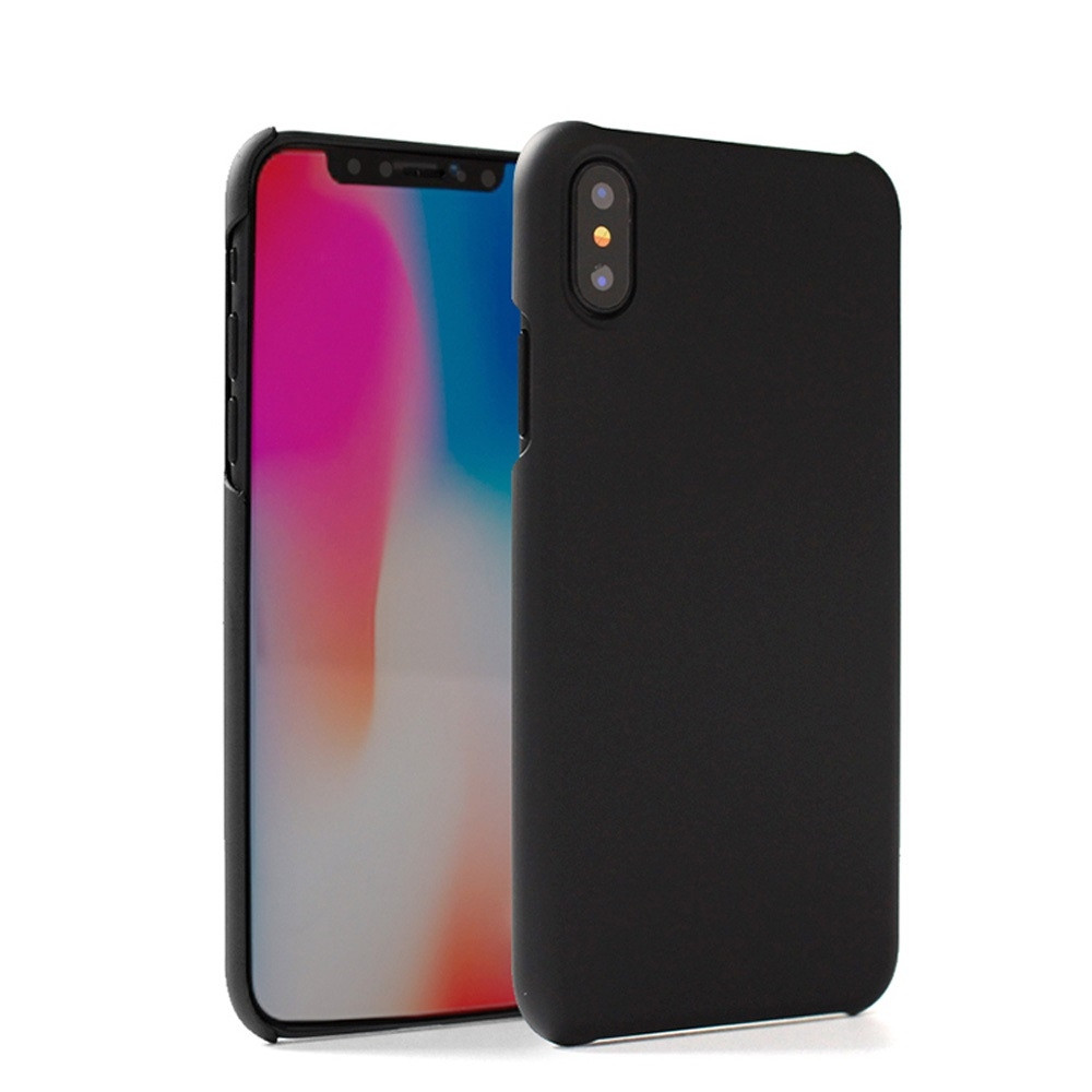 Apple iPhone X -  Ultra Slim Fit Hard Plastic Case, Black