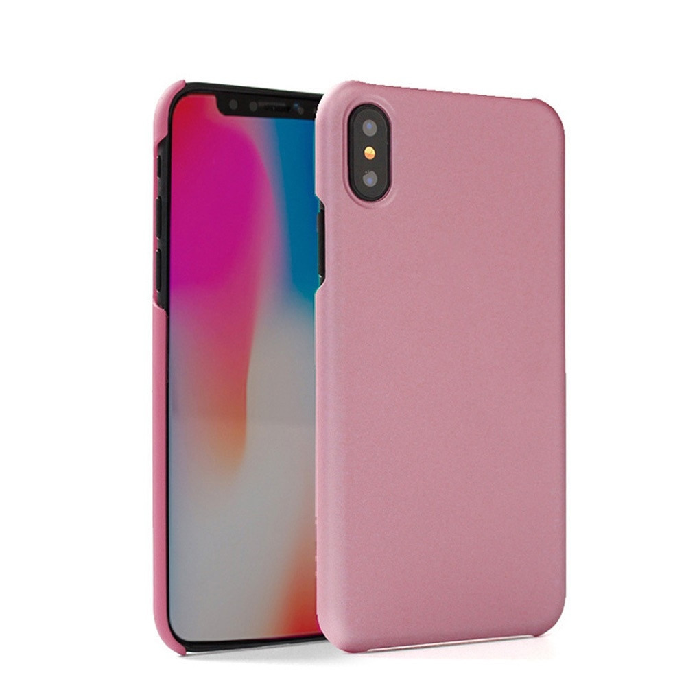 Apple iPhone X -  Ultra Slim Fit Hard Plastic Case, Pink
