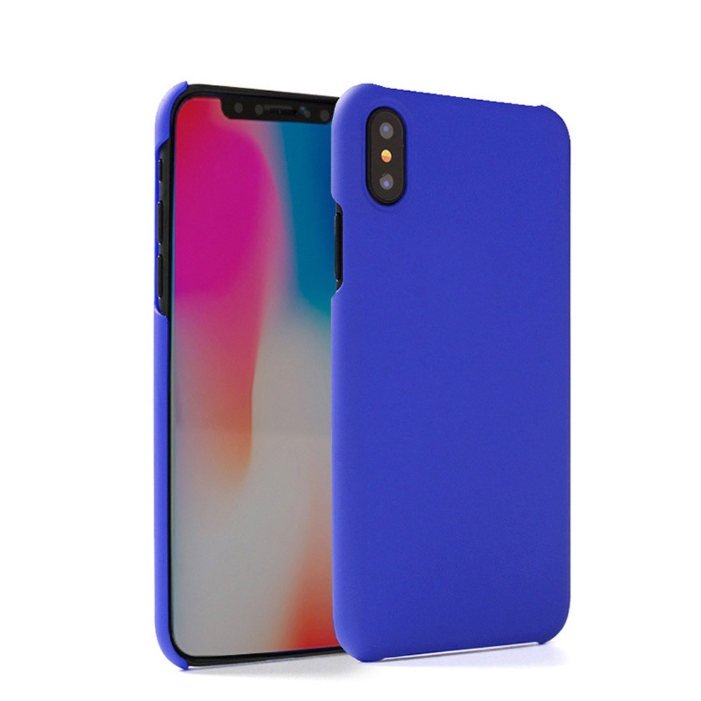 Apple iPhone X -  Ultra Slim Fit Hard Plastic Case, Blue