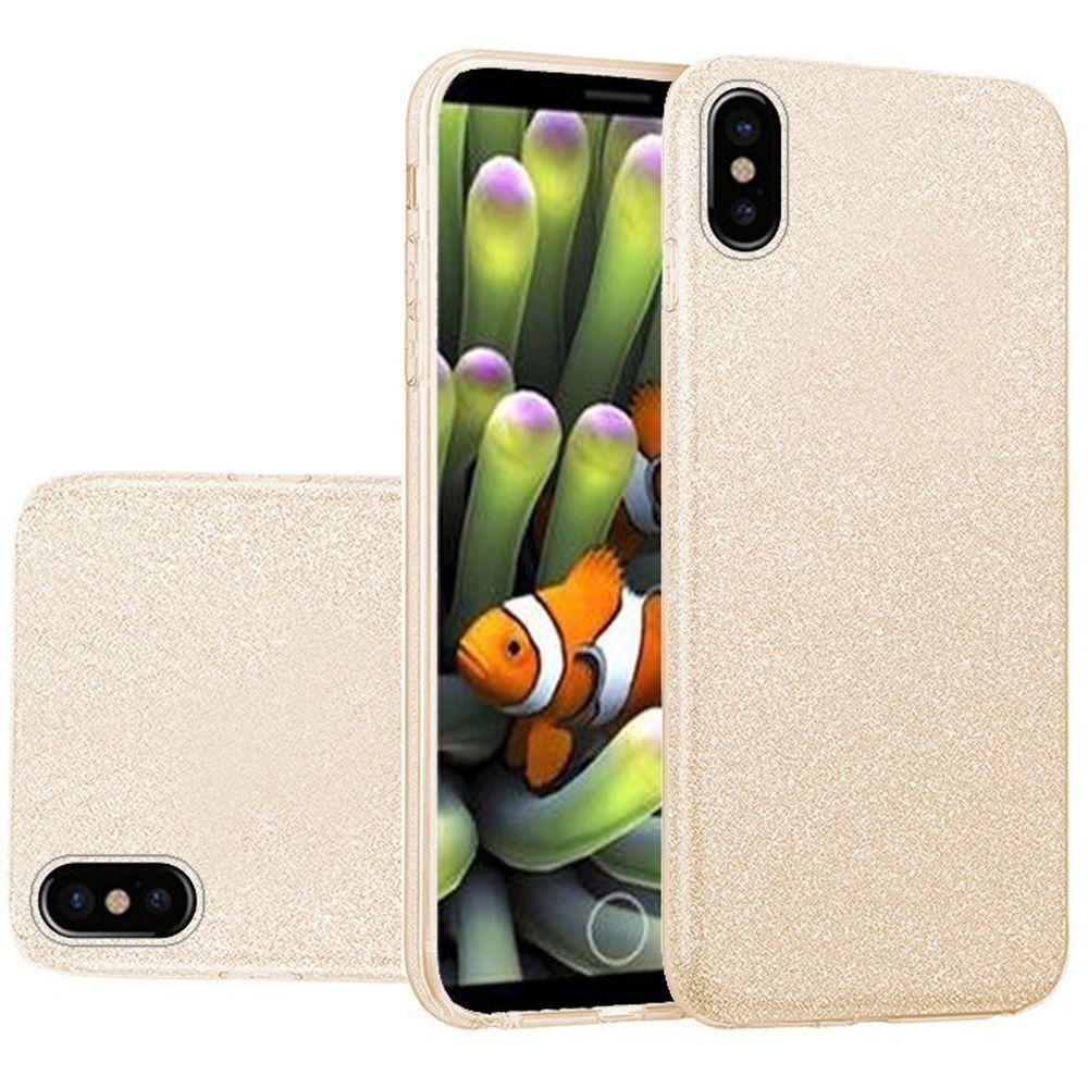 Apple iPhone X -  TPU Glitter Case, Gold