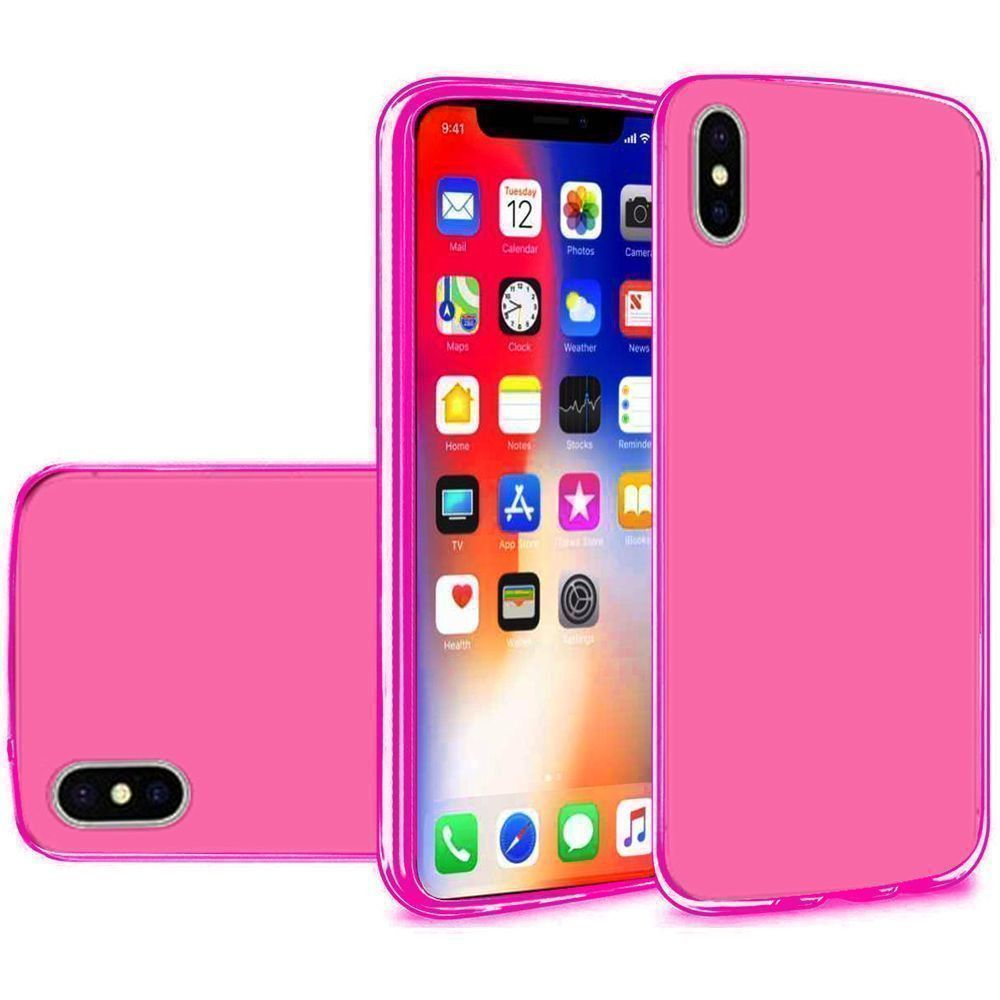 Apple iPhone X -  Frosted TPU Case, Pink