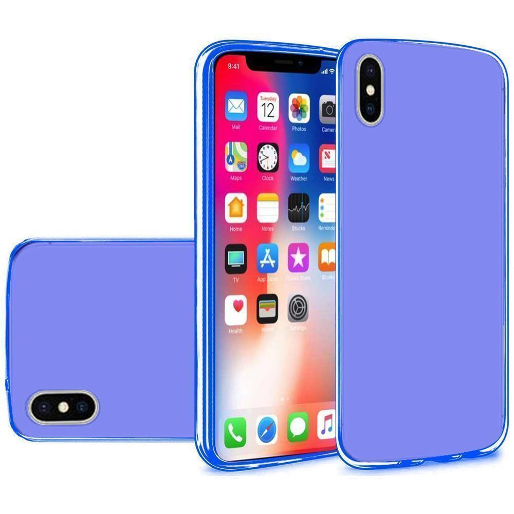 Apple iPhone X -  Frosted TPU Case, Blue