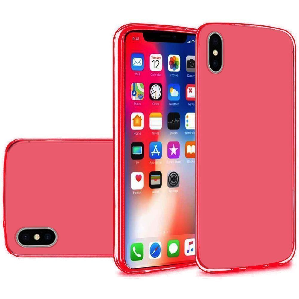 Apple iPhone X -  Frosted TPU Case, Red