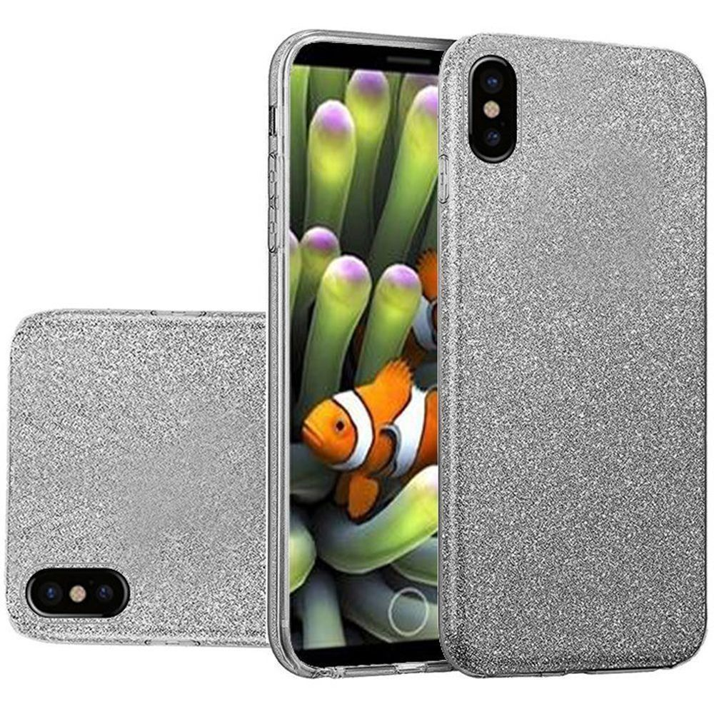 Apple iPhone X -  TPU Glitter Case, Gray