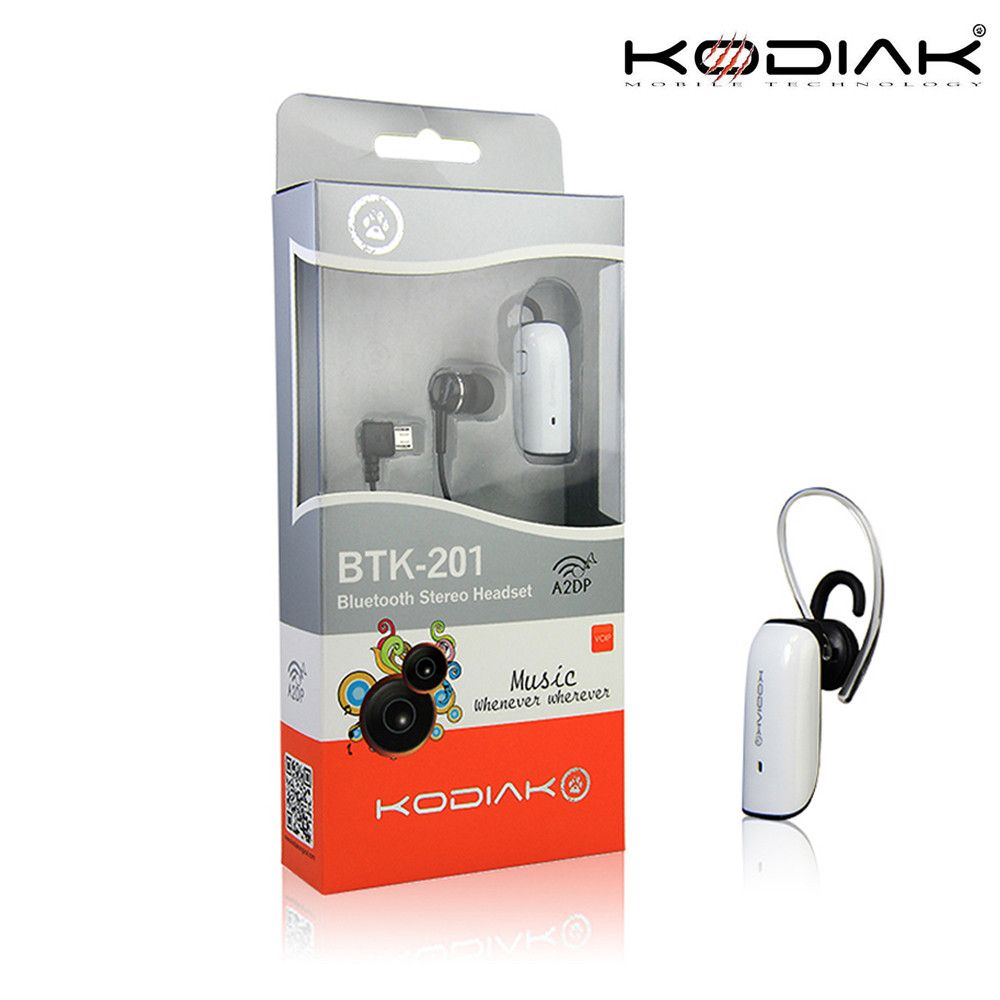 Apple iPhone 7 Plus -  Original Kodiak BTK-201 Multipoint Stereo Wireless Bluetooth Headset, White