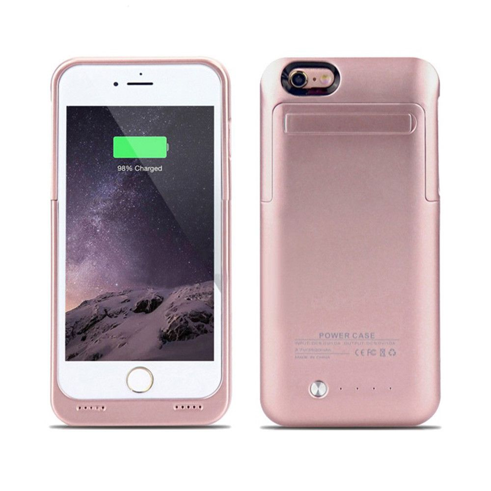 Apple iPhone 6/6s - External Battery Backup Power Case with Kickstand (3500mAh), Rose Gold