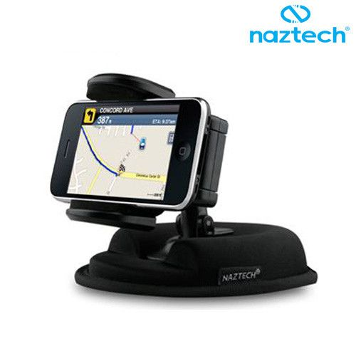 Apple iPhone 7 Plus -  Naztech 2-In-1 Dash Mount Holder, Black
