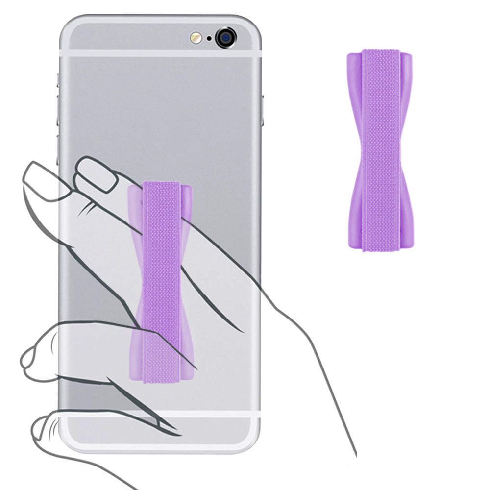 Apple iPhone 7 Plus -  Slim Elastic Phone Grip Sticky Attachment, Purple