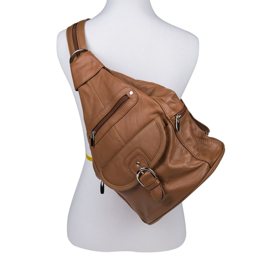 Apple iPhone 6 -  Genuine Leather Hand-Crafted Spacious Convertible Handbag/Backpack with Adjustable Straps, Camel