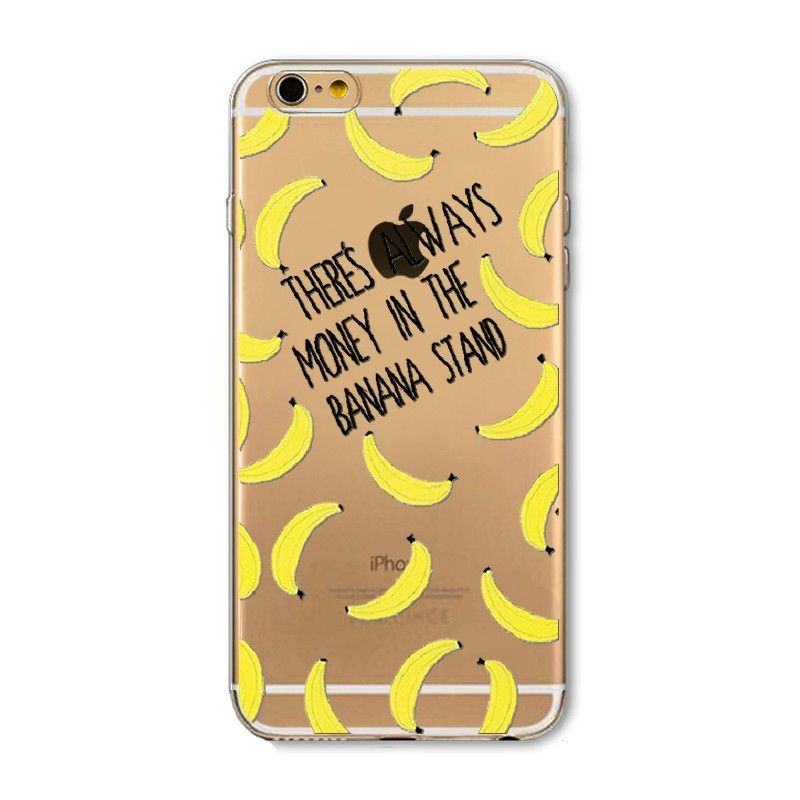 Apple iPhone 6/6s - Bananas Design Slim TPU Case, Yellow/Clear