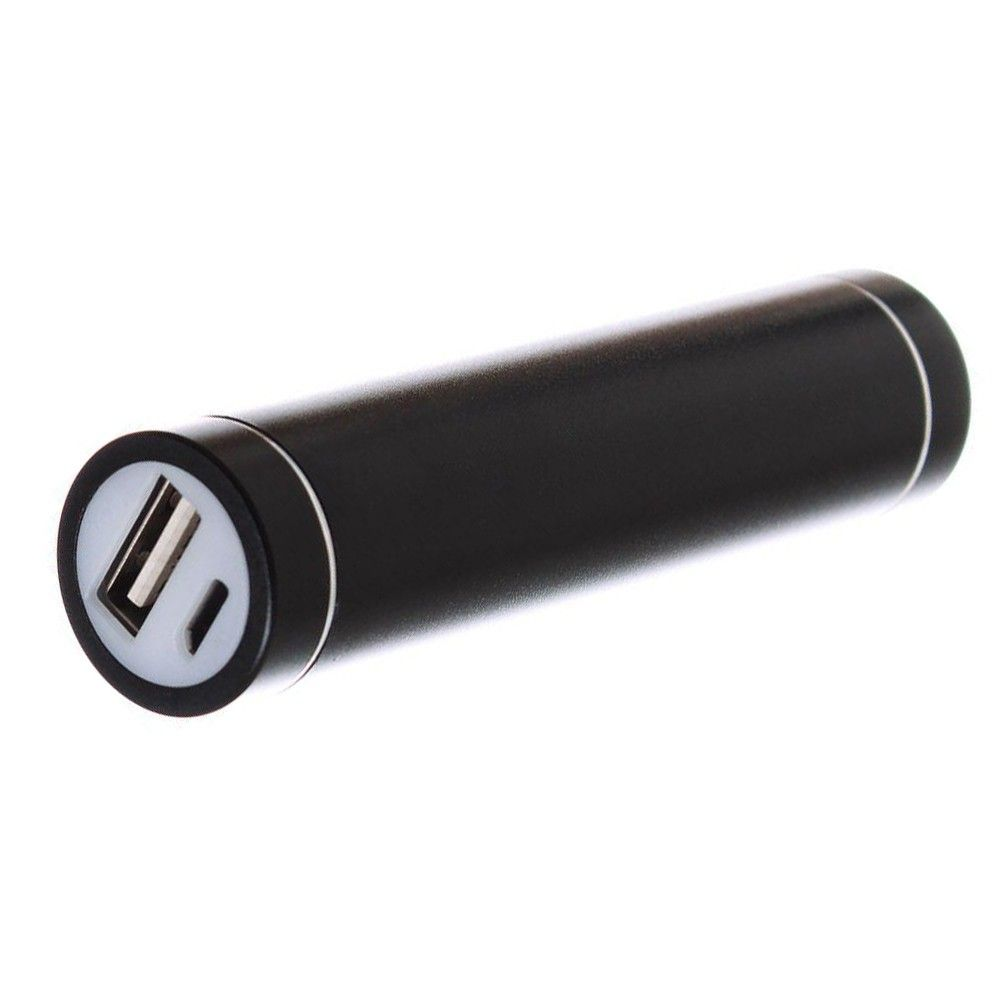 Apple iPhone 6 -  Universal Metal Cylinder Power Bank/Portable Phone Charger (2600 mAh) with cable, Black