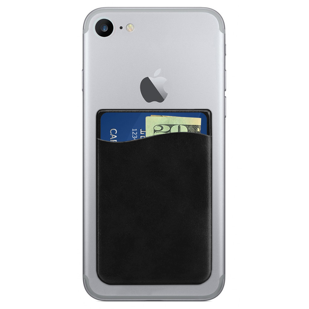 Apple iPhone 6 -  Vegan Leather Stick-on Card Pocket, Black