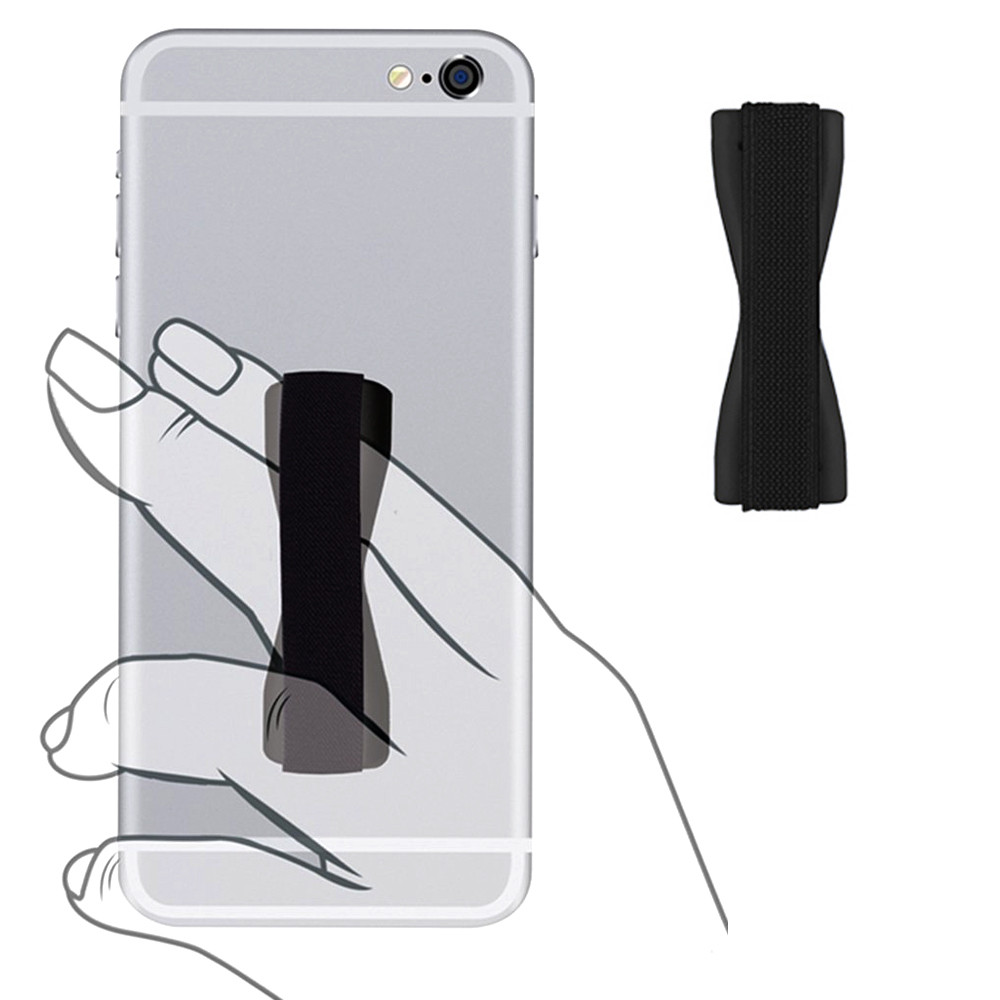Apple iPhone 6 -  Slim Elastic Phone Grip Sticky Attachment, Black