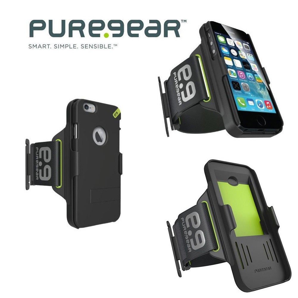 Original Puregear Apple iPhone 6/6s HIP Sports Armband and Case Combo, Black