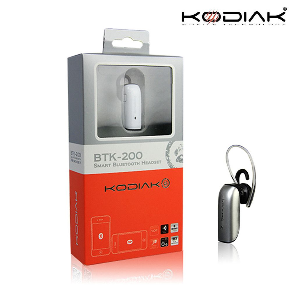 Apple iPhone X -  Original Kodiak BTK-200 Mono Wireless Bluetooth Headset, Silver