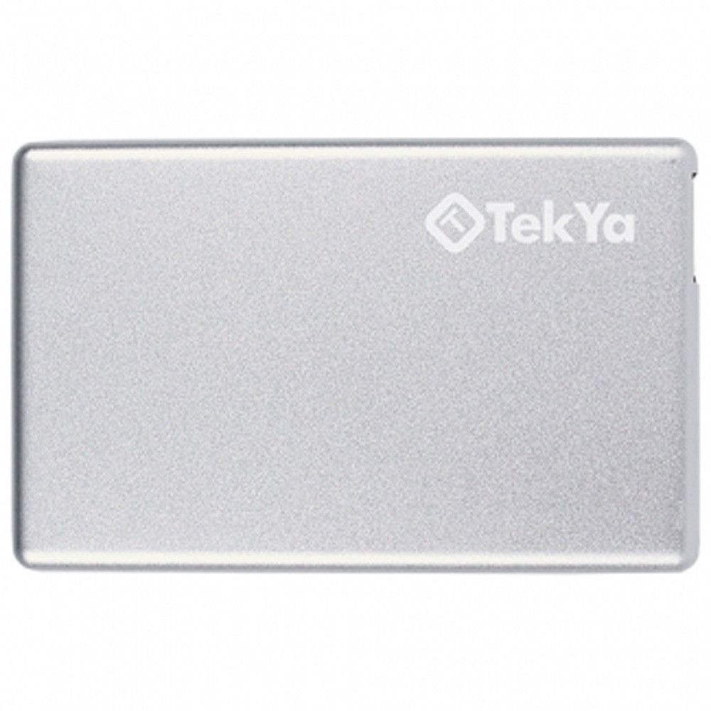 Apple iPhone X -  TEKYA Power Pocket Portable Battery Pack 2300 mAh, Silver