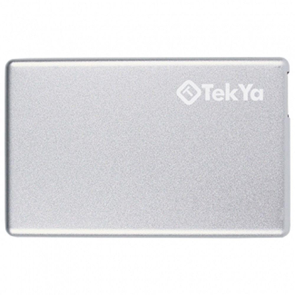 Apple iPhone X -  TEKYA Power Pocket Portable Battery Pack 2300 mAh, Silver