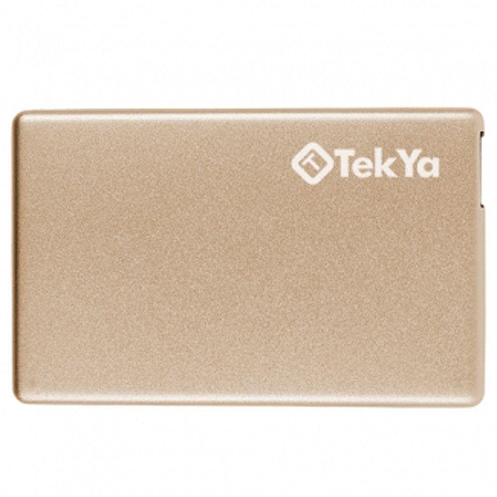 Apple iPhone X -  TEKYA Power Pocket Portable Battery Pack 2300 mAh, Gold