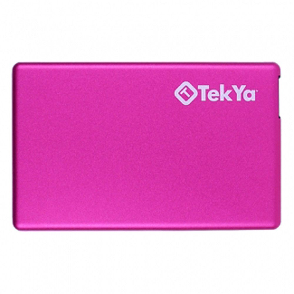 Apple iPhone X -  TEKYA Power Pocket Portable Battery Pack 2300 mAh, Pink