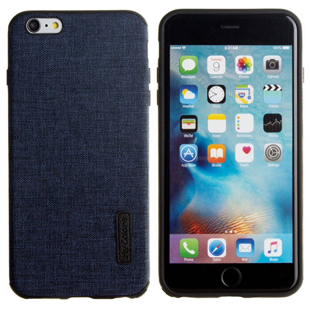 Apple iPhone 6 Plus -  Ultra Slim Fabric design case, Navy Blue