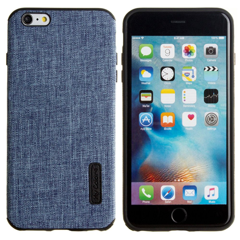 Apple iPhone 6 Plus -  Ultra Slim Fabric design case, Blue