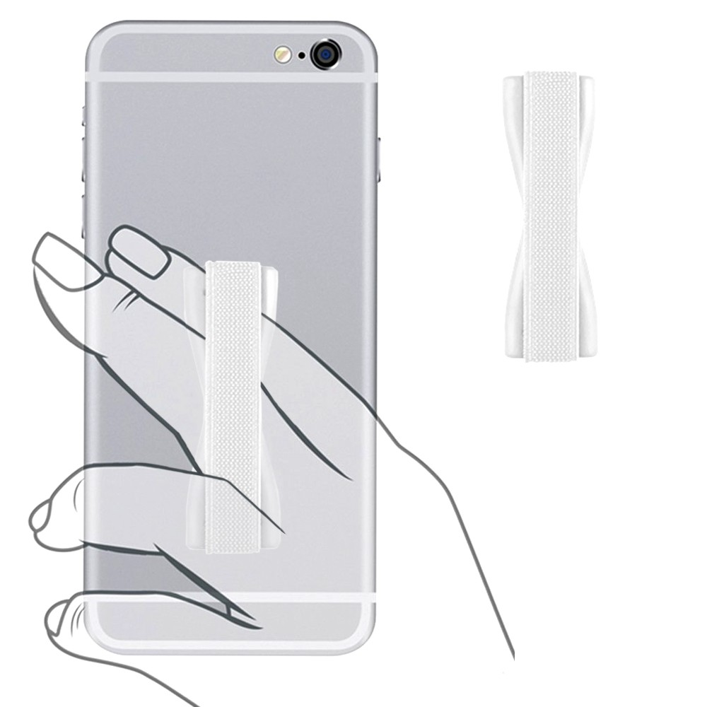 Apple iPhone X -  Slim Elastic Phone Grip Sticky Attachment, White
