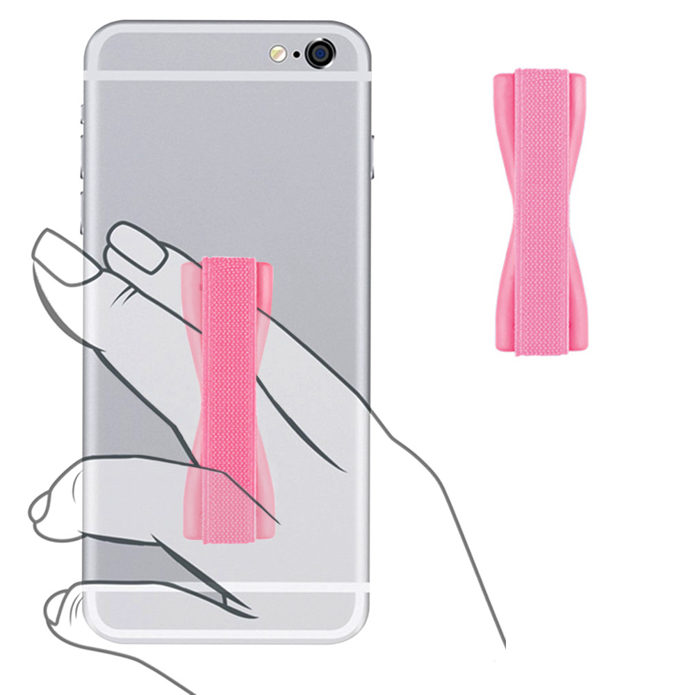 Apple iPhone X -  Slim Elastic Phone Grip Sticky Attachment, Pink