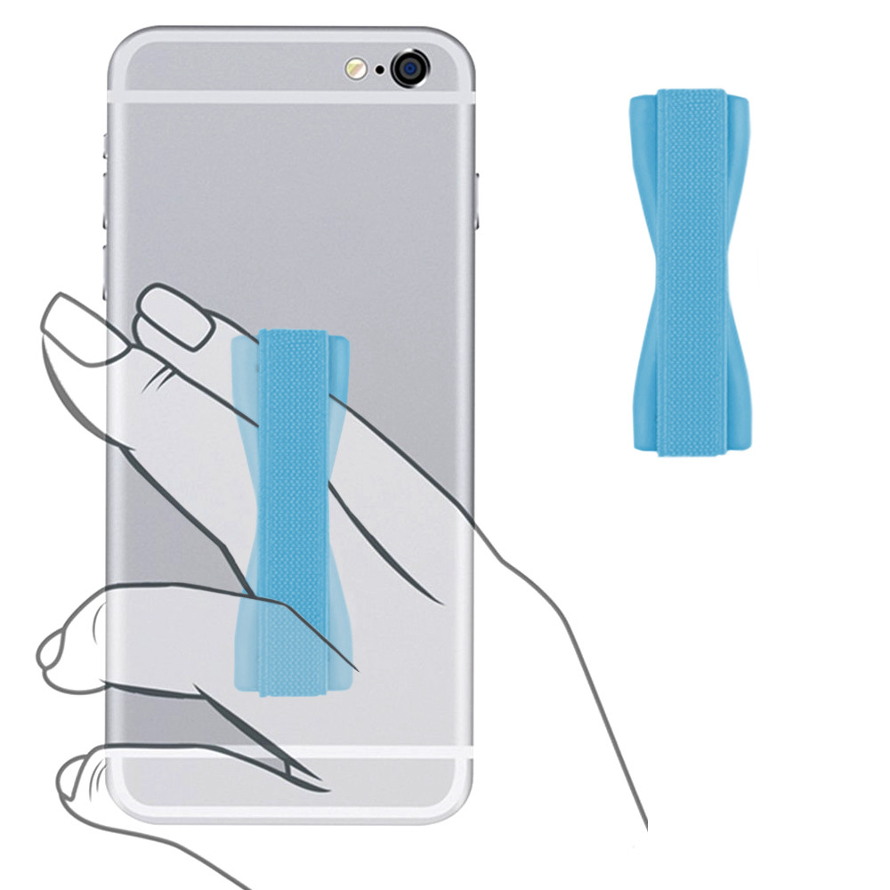 Apple iPhone X -  Slim Elastic Phone Grip Sticky Attachment, Blue