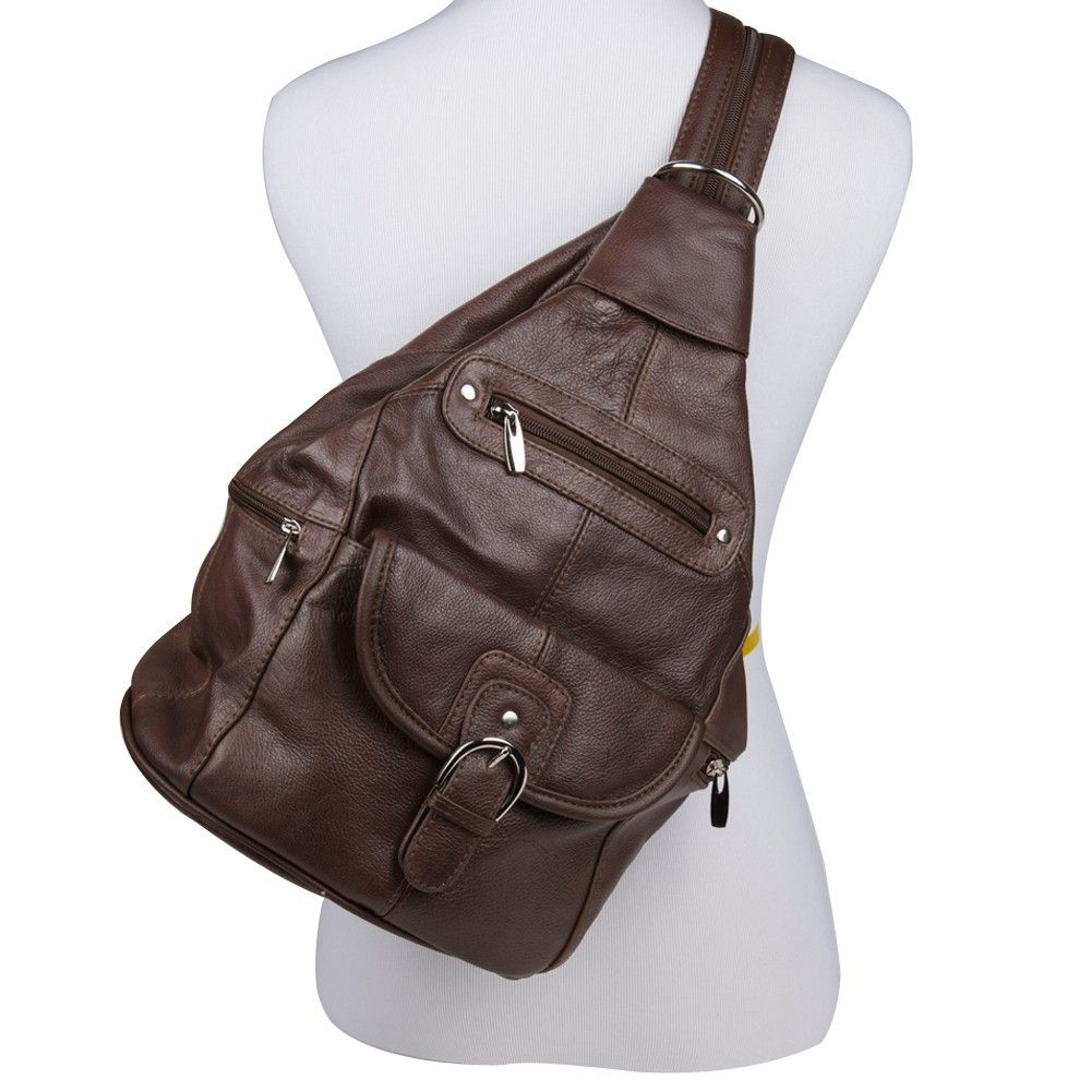 Apple iPhone 6 Plus -  Genuine Leather Hand-Crafted Spacious Convertible Handbag/Backpack with Adjustable Straps, Brown