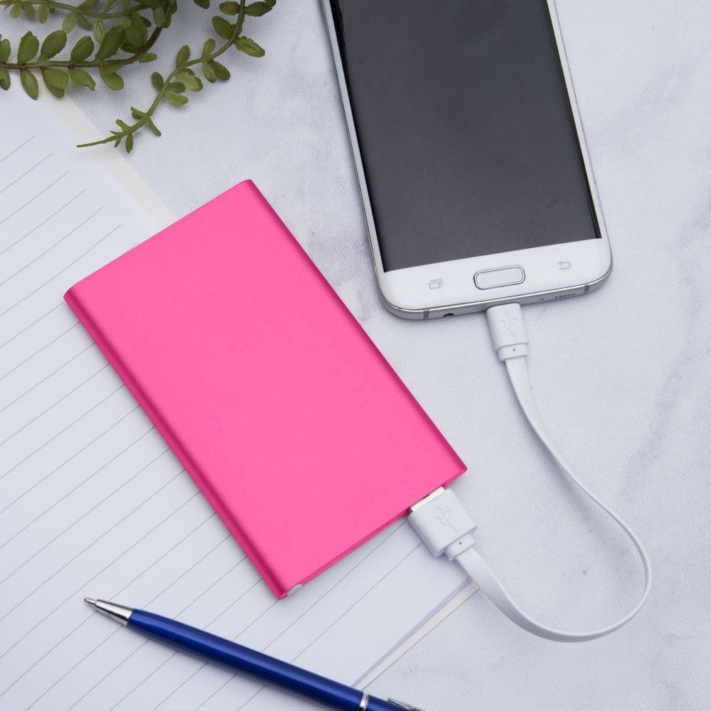 Apple iPhone X -  4000mAh Slim Portable Battery Charger/Power Bank, Hot Pink