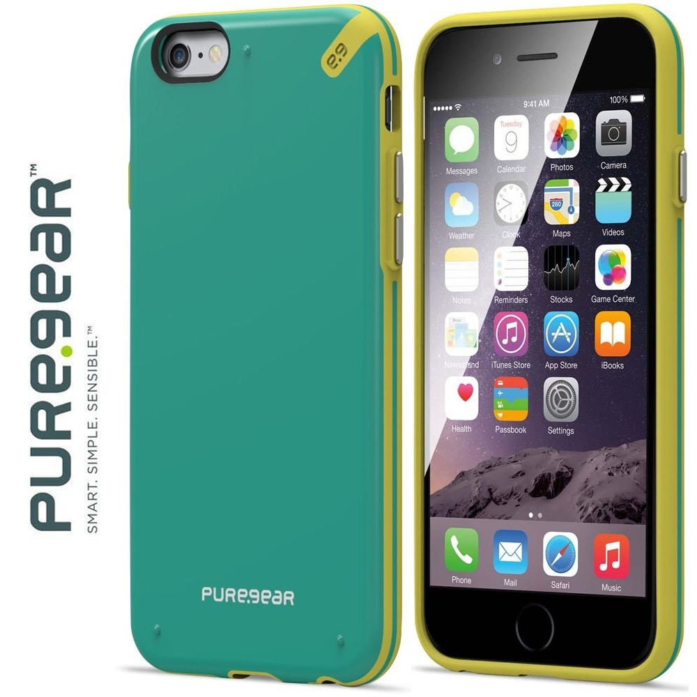 Original PureGear Apple iPhone 6/6s Plus Slim Shell Rugged Case, Citrus Mint