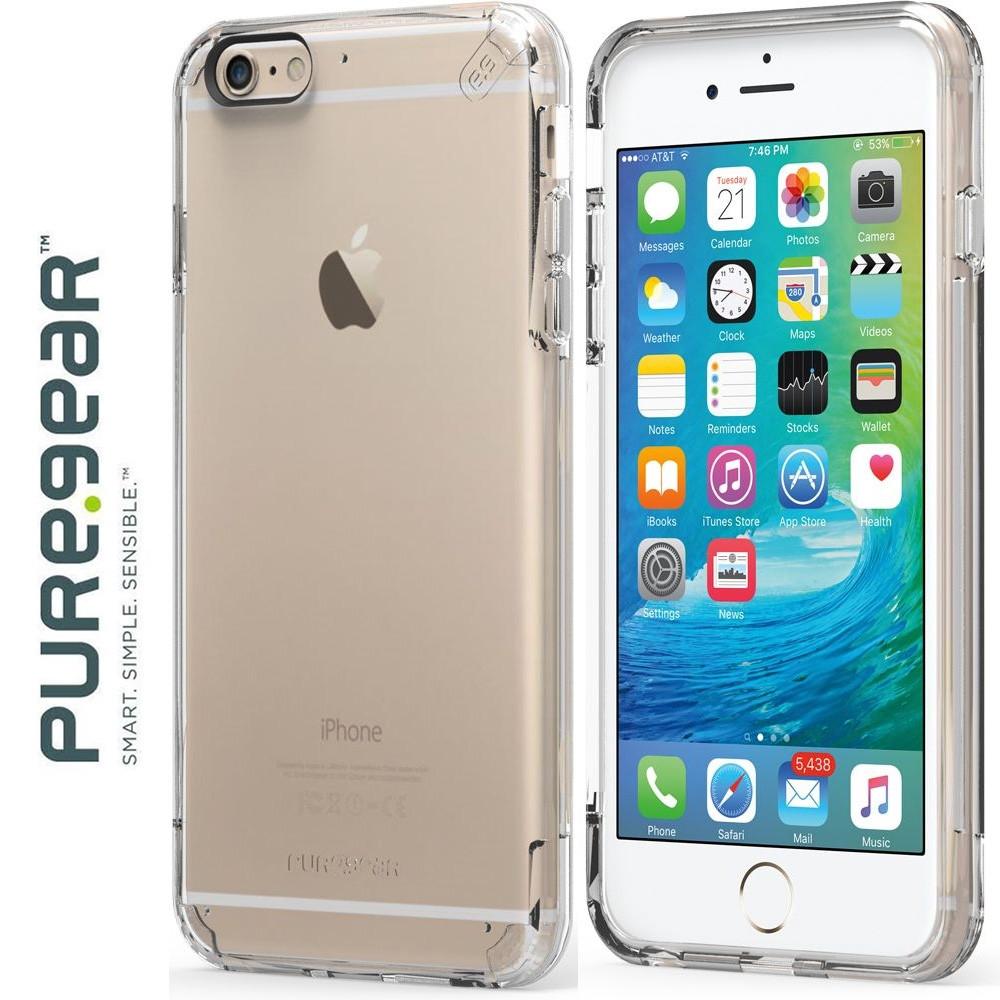 Original PureGear Apple iPhone 6/6s Plus Slim Shell Pro Rugged Case, Clear