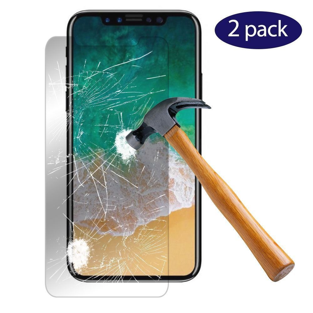 Apple iPhone X - 2-Pack Tempered Glass Screen Protector Combo, Clear