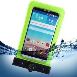 Apple iPhone 6 Plus -  Splash Guardz Waterproof Case with Lanyard, Lime Green