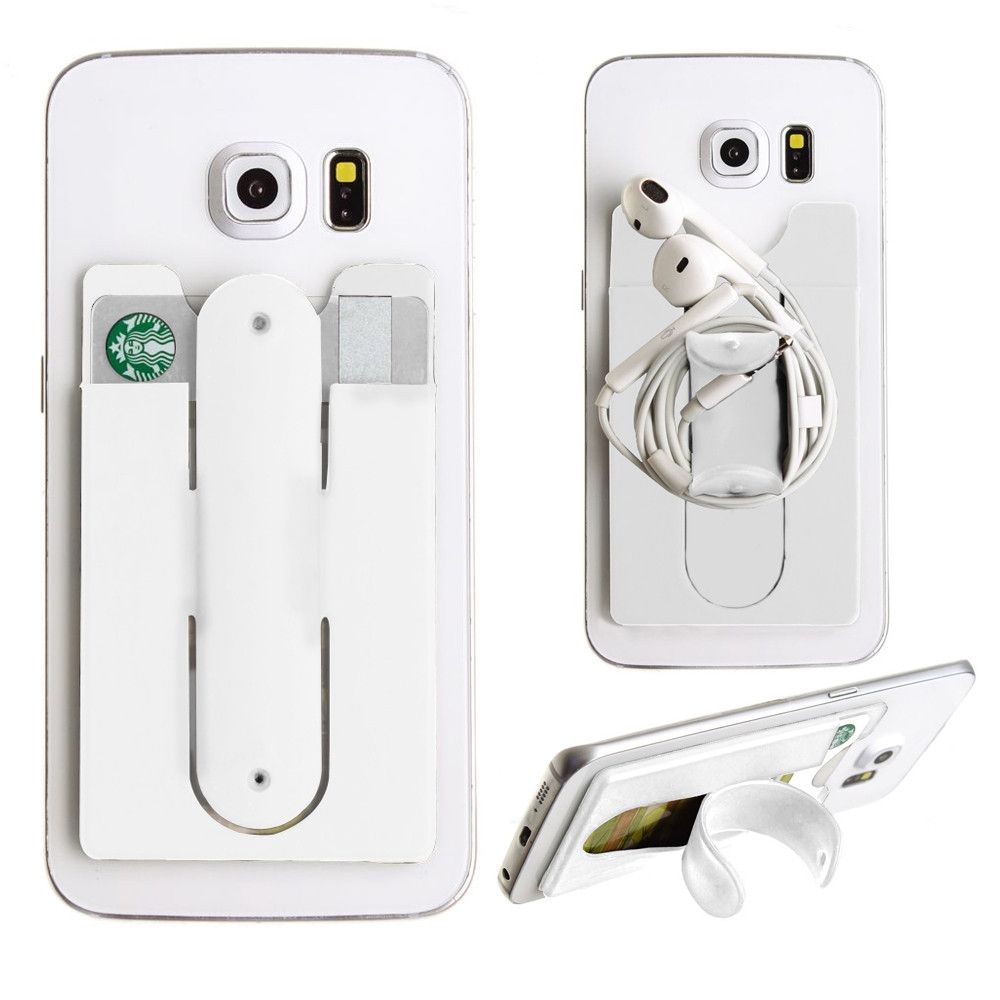 Apple iPhone X -  2in1 Phone Stand and Credit Card Holder, White