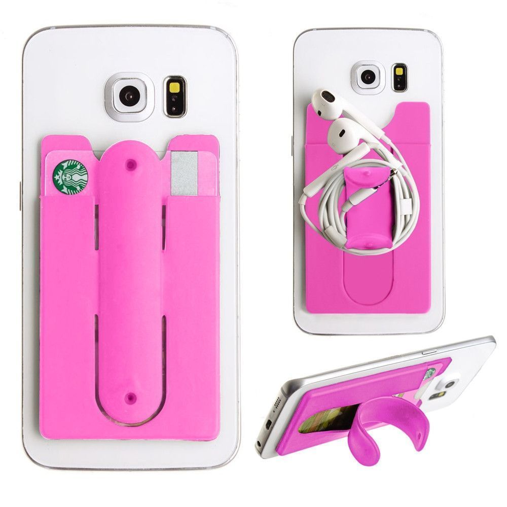 Apple iPhone X -  2in1 Phone Stand and Credit Card Holder, Pink