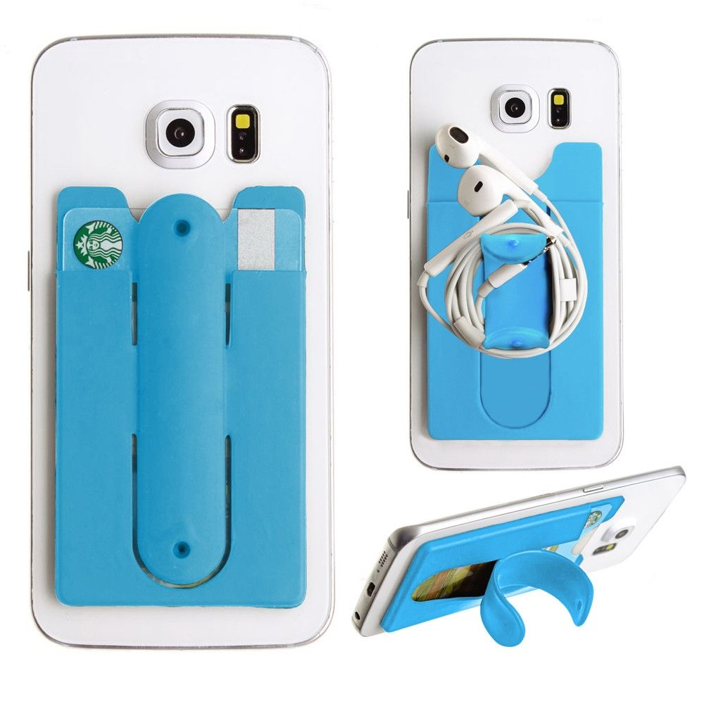 Apple iPhone X -  2in1 Phone Stand and Credit Card Holder, Blue
