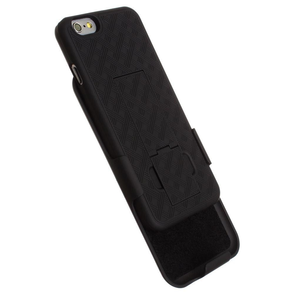 Apple iPhone 6/6s - Cellet Rugged Case with Belt Clip Holster, Black