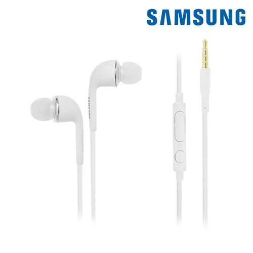 Apple iPhone 6 Plus -  OEM Samsung Galaxy Series Tangle-Free 3.5mm Stereo Headset w/In-Line Mic, White (EO-HS3303WE)
