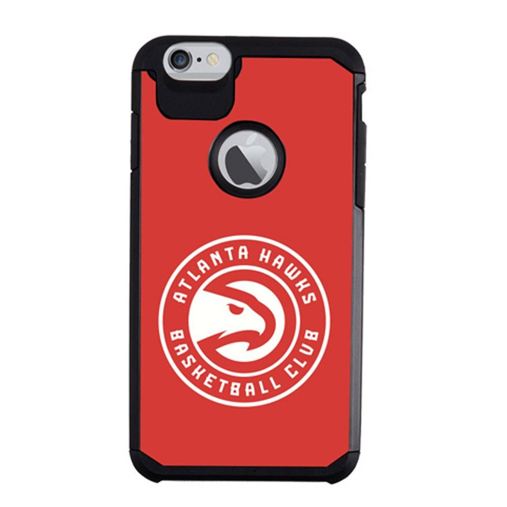 Apple iPhone 6/6s - NBA Official Atlanta Hawks Hybrid Rugged Case, Red