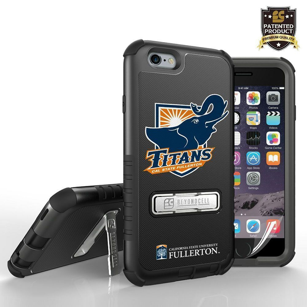 Apple iPhone 6/6s - Licensed Cal State Fullerton Tri Shield Rugged Case with Kickstand, Mascot Logo