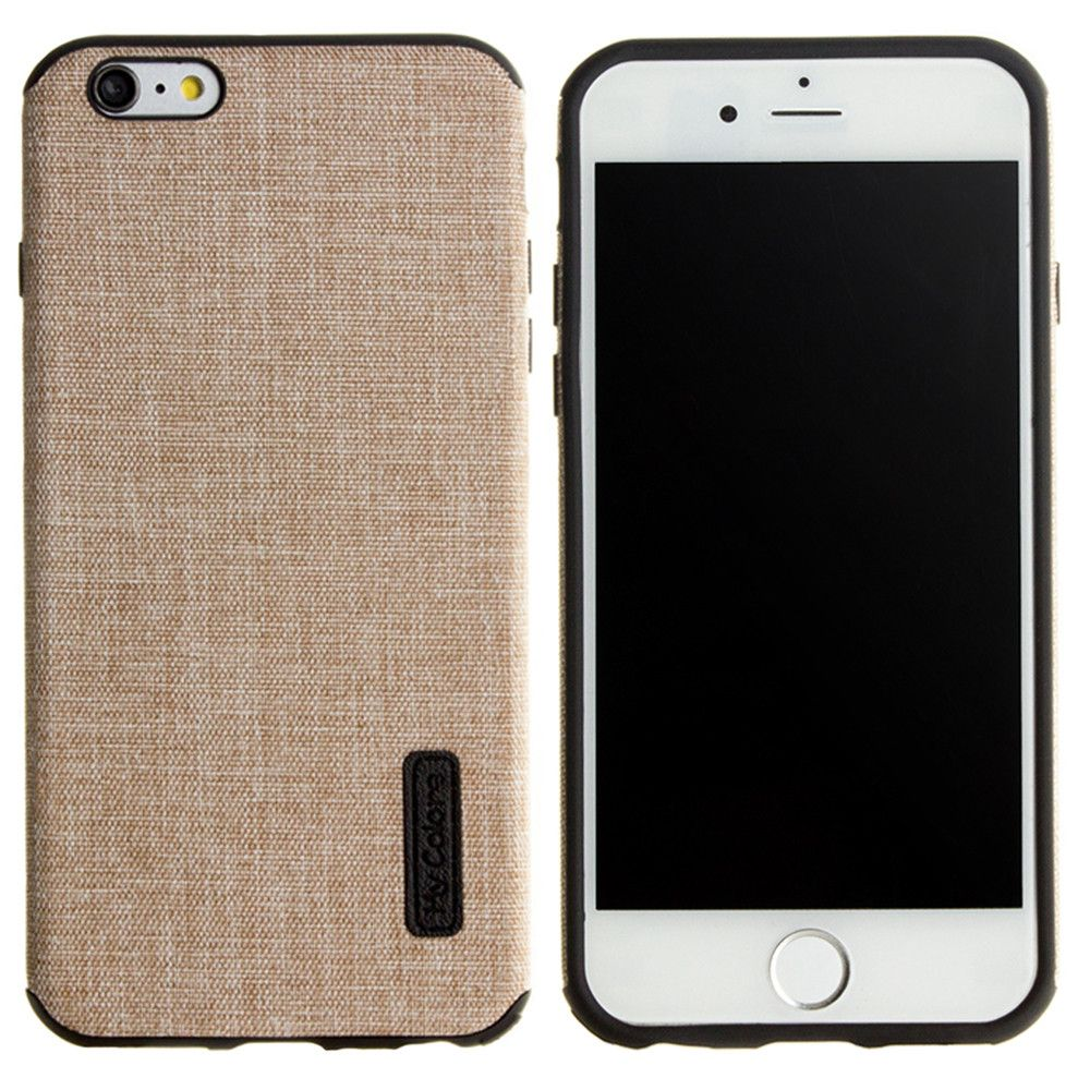 Apple iPhone 6/6s - Ultra Slim Fabric design case, Khaki