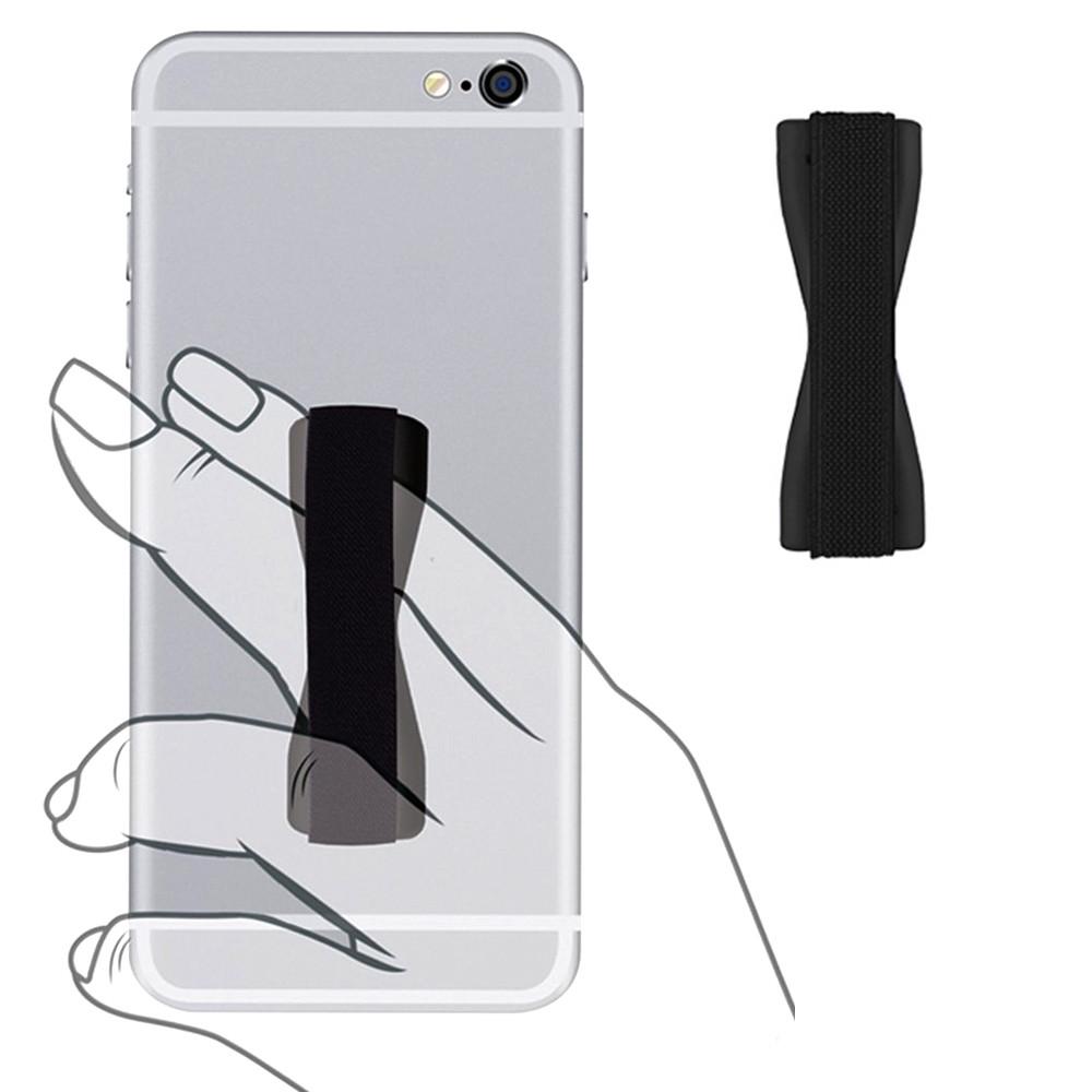 Apple iPhone 6 Plus -  Slim Elastic Phone Grip Sticky Attachment, Black
