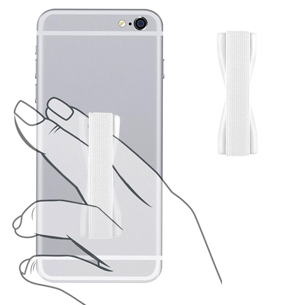 Apple iPhone 6 Plus -  Slim Elastic Phone Grip Sticky Attachment, White